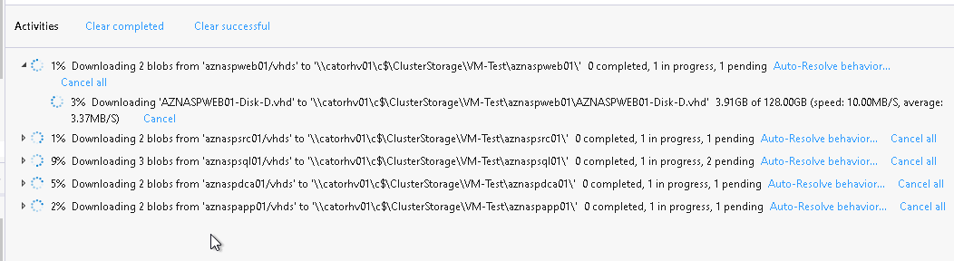 Download all VM disks