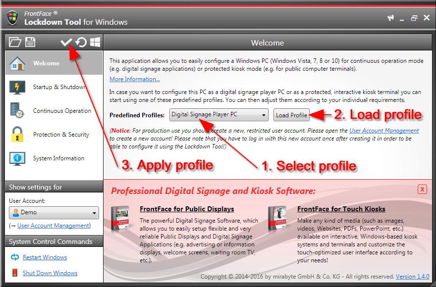 FrontFace Windows Lockdown Tool
