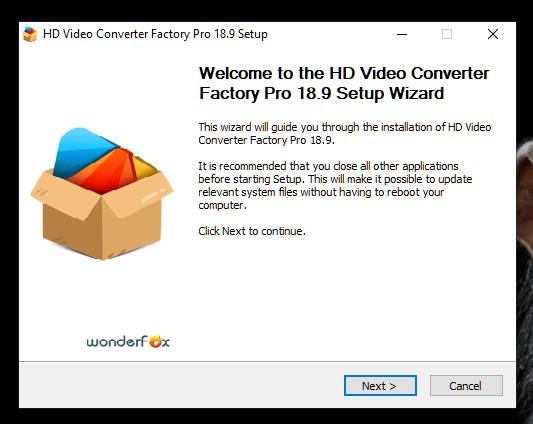 hd video conver factory pro installation