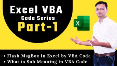Excel VBA Code Part-1 Flash MsgBox in Excel by VBA Code What is Sub Meaning in VBA Code