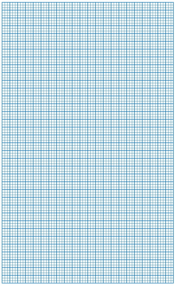 Graph Paper Blue Lines with border Small Block