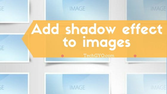 Image shadow effects online