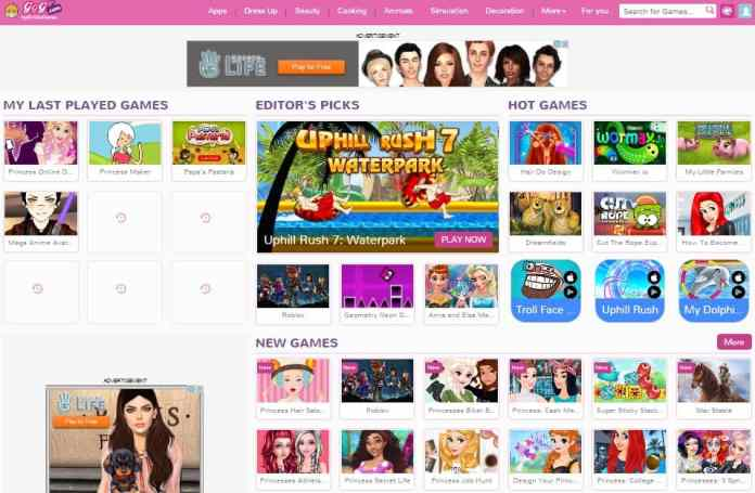 GirlsGoGames Anime Avatar Creator Categories
