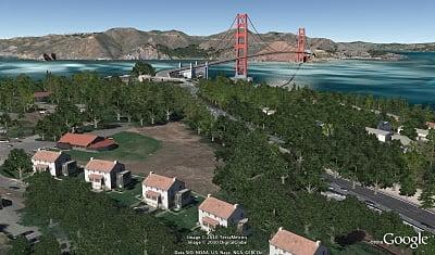 google earth 3D trees
