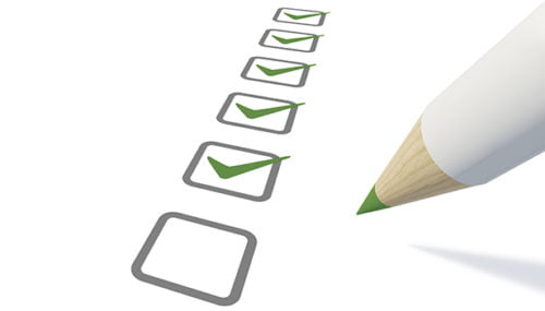 Consumer review check list