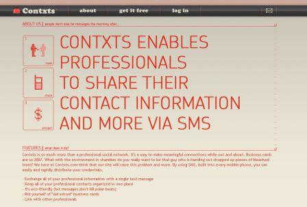 Contxts business card maker