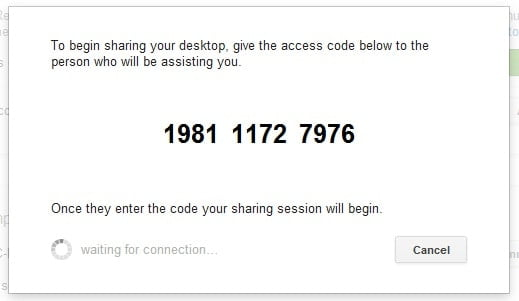 Chrome Remote Desktop-Access Code
