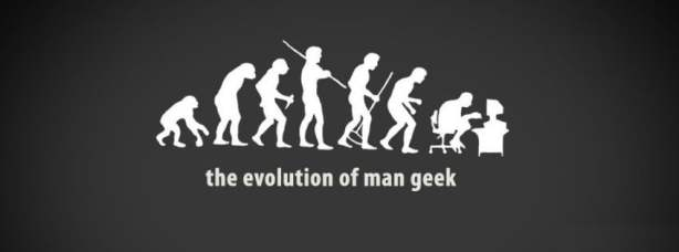 Evolution of a man to geek