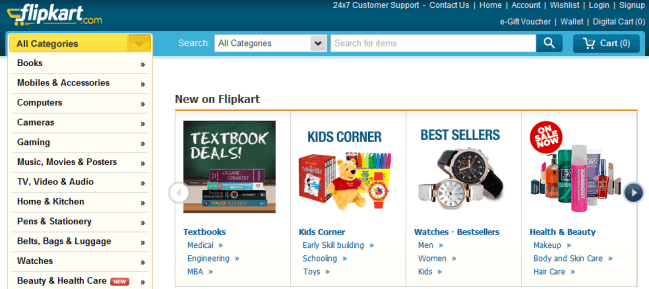 Flipkart-Website Screenshot
