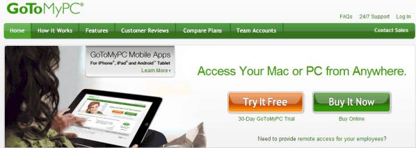 GoToMyPC Screenshot