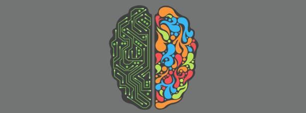 Half Creative Half circuit brain