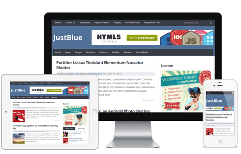 Just blue responsive theme
