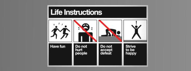 Life instructions facebook cover