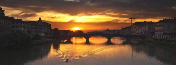 Sunset and the bridge
