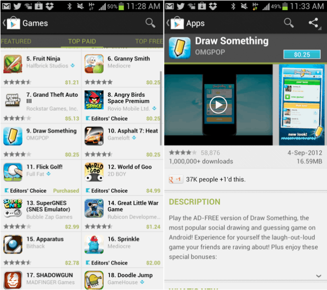 Google offering premium apps at $0.25 to celebrate 25 billion downloads from the Play Store 1