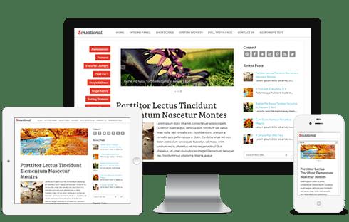 sensational responsive wordpress theme