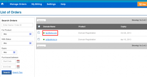 configuring blogger domain name with bigrock