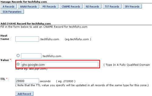 domain naming with bigrock blogger