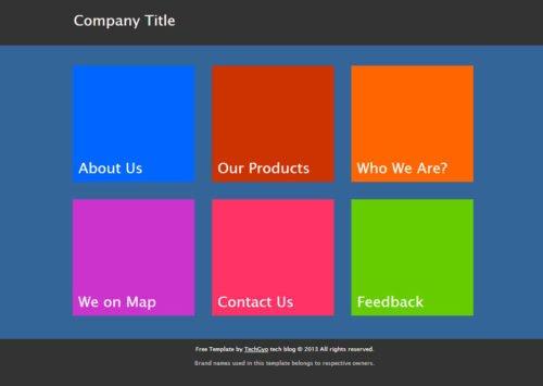 Metro UI HTML Template