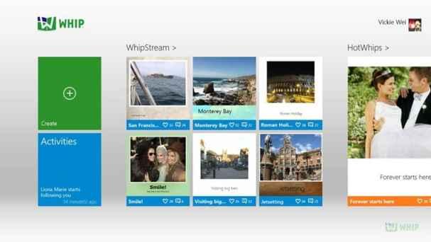 Whip App on Windows 8