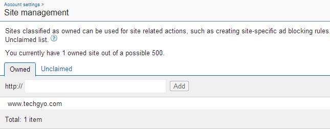 adsense site management