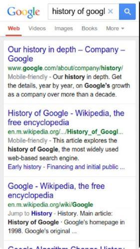 google mobile search add breadcrumbs
