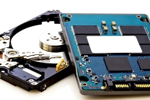 SSD vs HDD, new and old technology