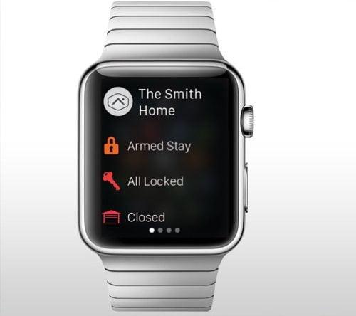 apple watch app alarm.com app