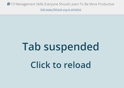great suspender chrome extension
