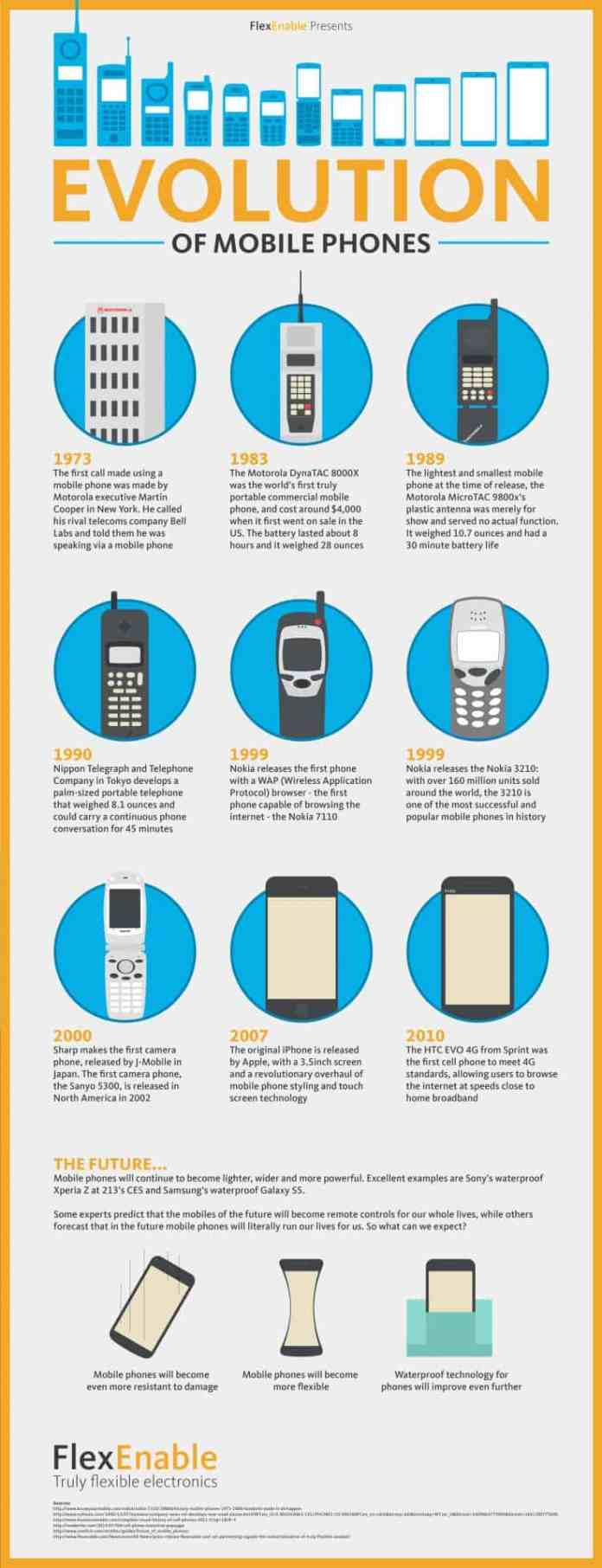 Visual portrait of The Evolution of Mobile Phones infographic