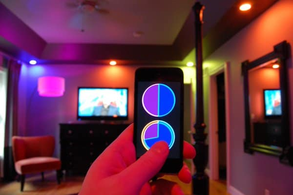 smart phone light controls