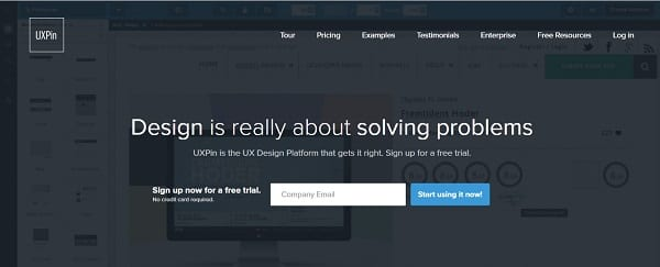 uxpin cloud tools for web designers and developers