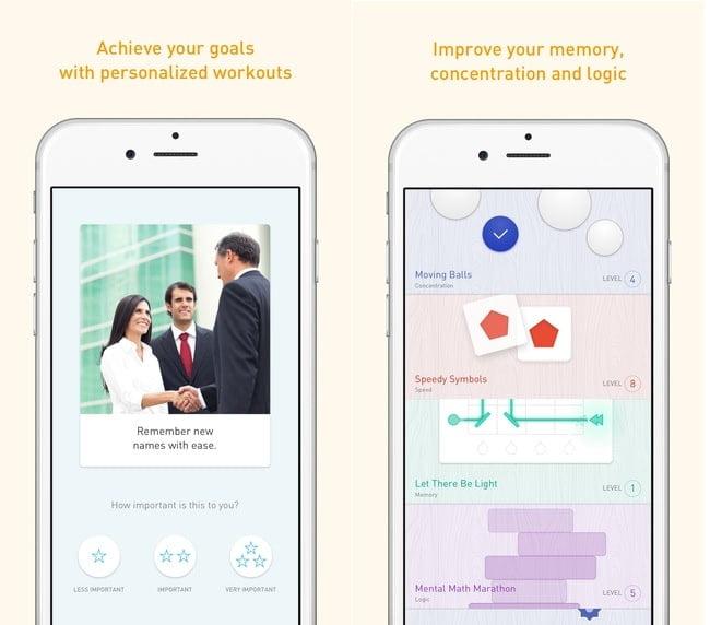memorado brain training iq workout ios app