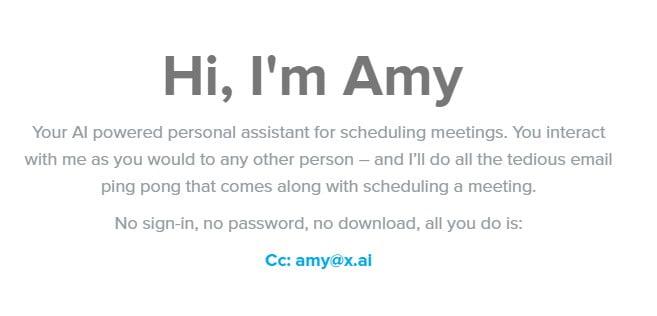 Amy Artificial Intelligence Website