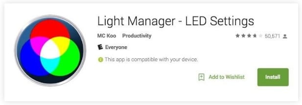 Light Manager LED Configuration App