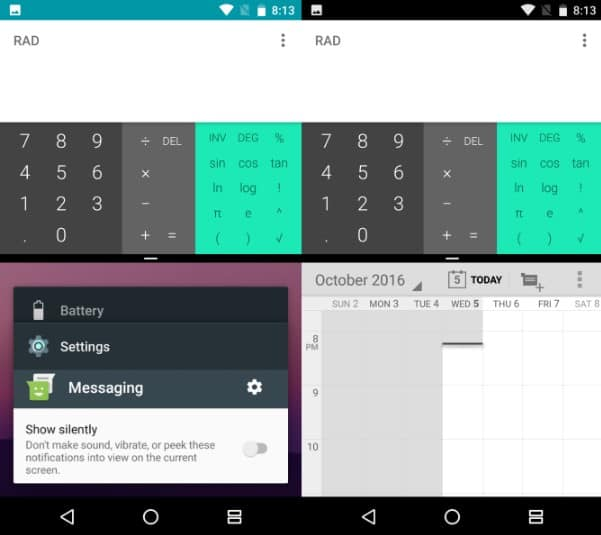 Multi-window feature on Android Nougat