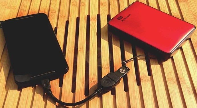 USB OTG CABLE - Connect External Drives