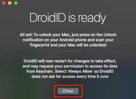 unlock mac using android driodID