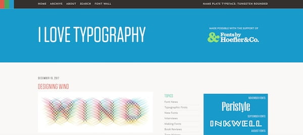 I Love Typography wordpress design
