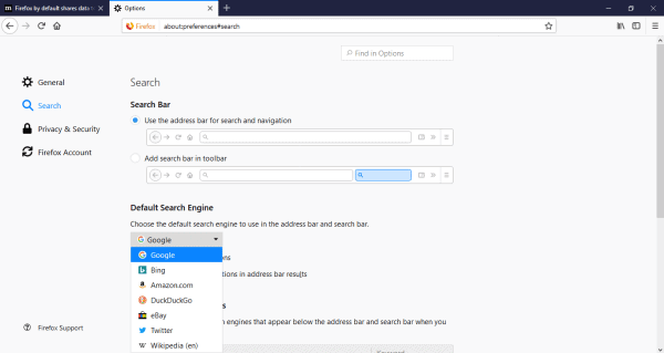 How to change the default search engine in Firefox - Simple and Easy Steps 5