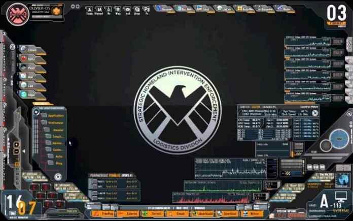 Avengers SHIELD OS Rainmeter Skin