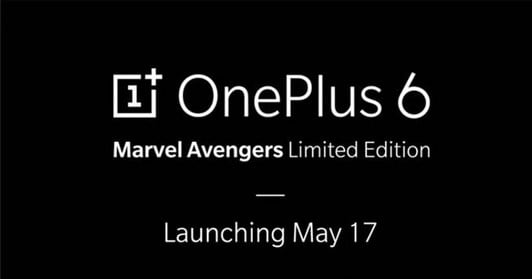 OnePlus 6x Marvel Avengers Limited Edition Will Launch in India on May 17 2