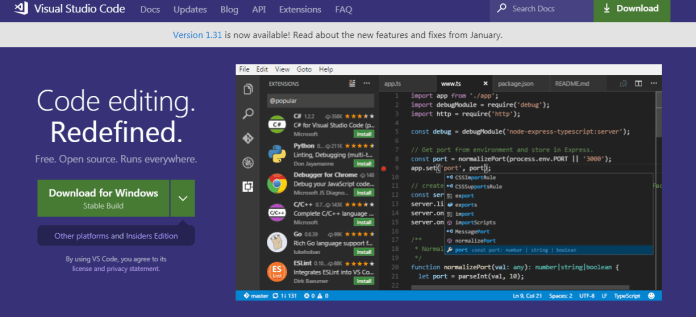 Visual Studio Code mac text editor