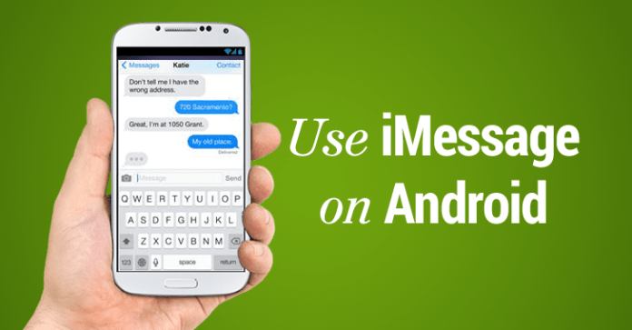 use apple imessage on android