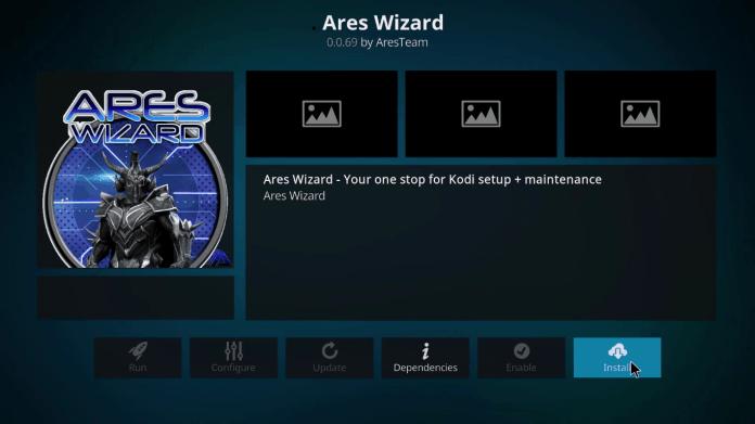 Ares wizard on kodi