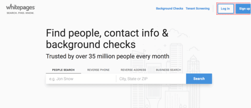 Whitepages people finder