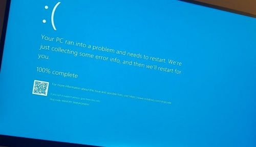 windows 10 memory management error