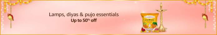 Lamps, diyas & pujo essentials - Up to 50% off