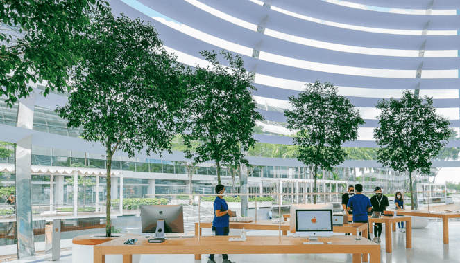 Checkout The First-Ever Floating Apple Store 4