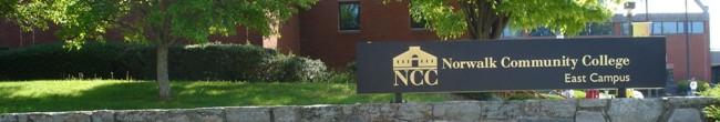 NCC campus sign fr norwalk-edu